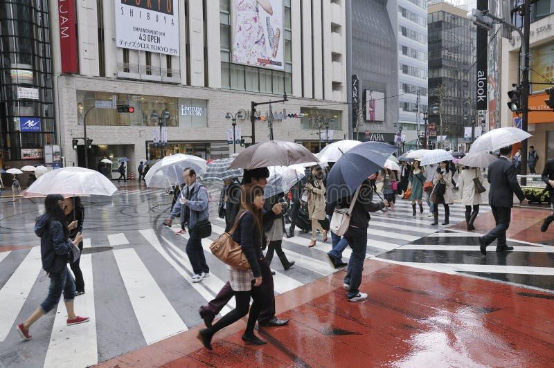 βροχερό Τόκιο στοκ φωτογραφίες