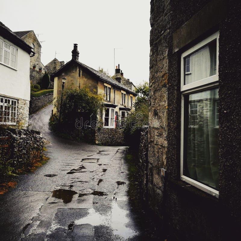 Βροχερό χωριό στοκ εικόνες