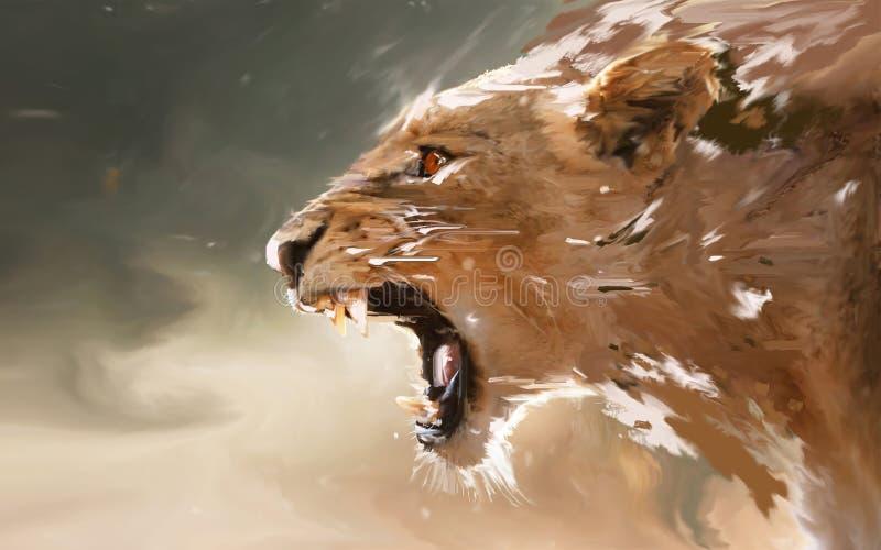 Βρυμένος λιοντάρι διανυσματική απεικόνιση
