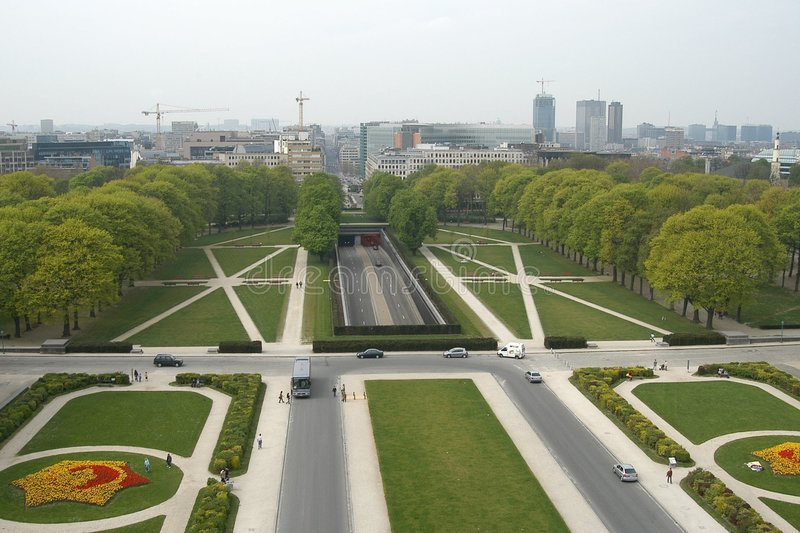 Βρυξέλλες cinquantenaire du parc στοκ εικόνα με δικαίωμα ελεύθερης χρήσης