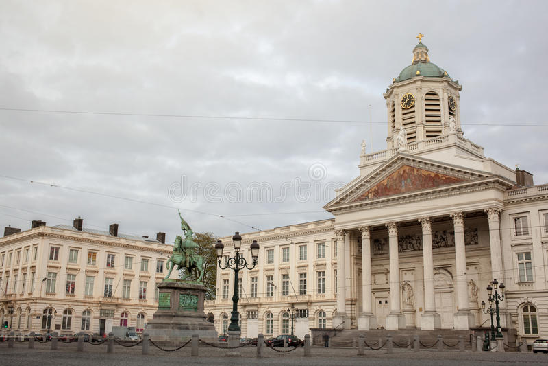 Βρυξέλλες, Βέλγιο - ST Ζακ Church στο Coudenberg και το Gode στοκ εικόνα με δικαίωμα ελεύθερης χρήσης