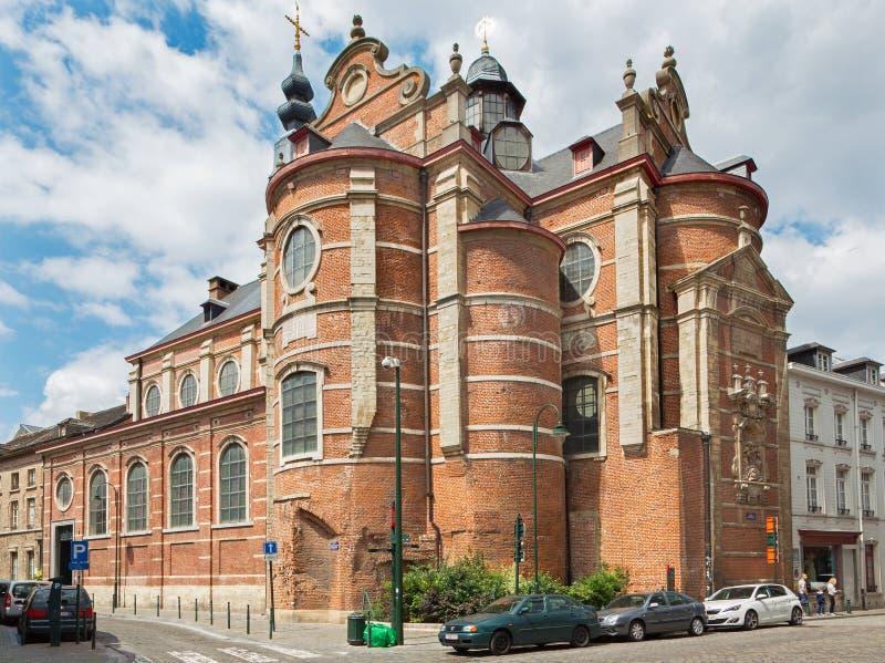 Βρυξέλλες - οι πλούτοι Claires της Notre Dame εκκλησιών aux στοκ φωτογραφία με δικαίωμα ελεύθερης χρήσης