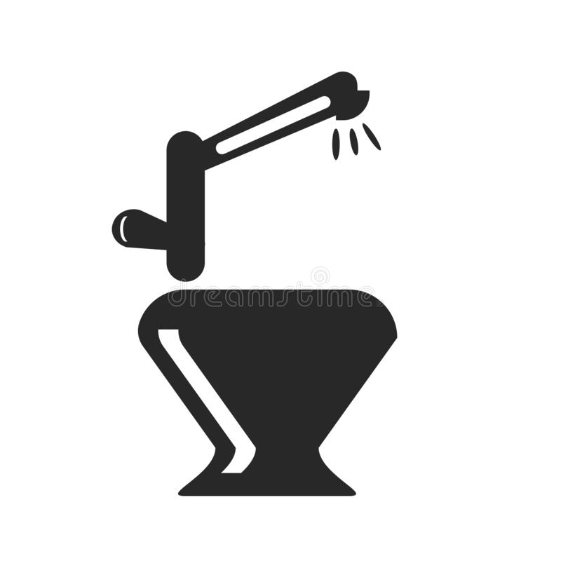 Βρυσών σημάδι και σύμβολο εικονιδίων διανυσματικό που απομονώνονται στο άσπρο υπόβαθρο, έννοια λογότυπων βρυσών απεικόνιση αποθεμάτων