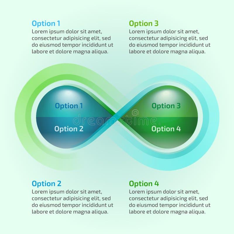 Βρόχος απείρου φύσης πτώσης νερού Eco infographic ελεύθερη απεικόνιση δικαιώματος