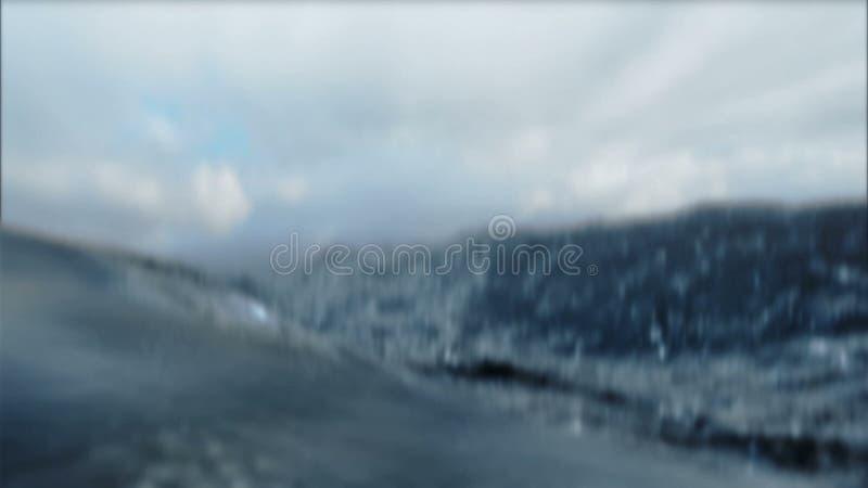 Βρόχος τραχιάς θάλασσας τρισδιάστατος διανυσματική απεικόνιση