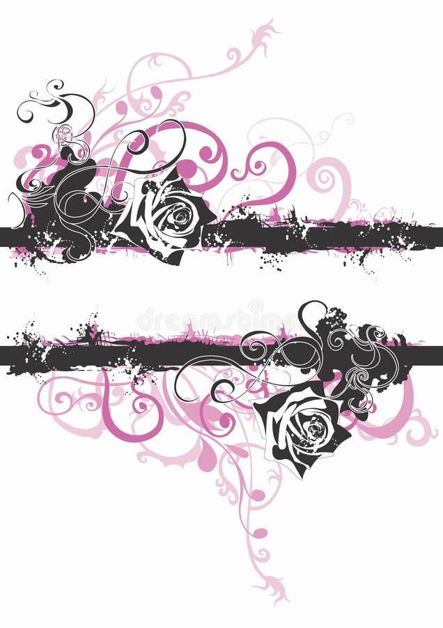 βρώμικα τριαντάφυλλα ελεύθερη απεικόνιση δικαιώματος