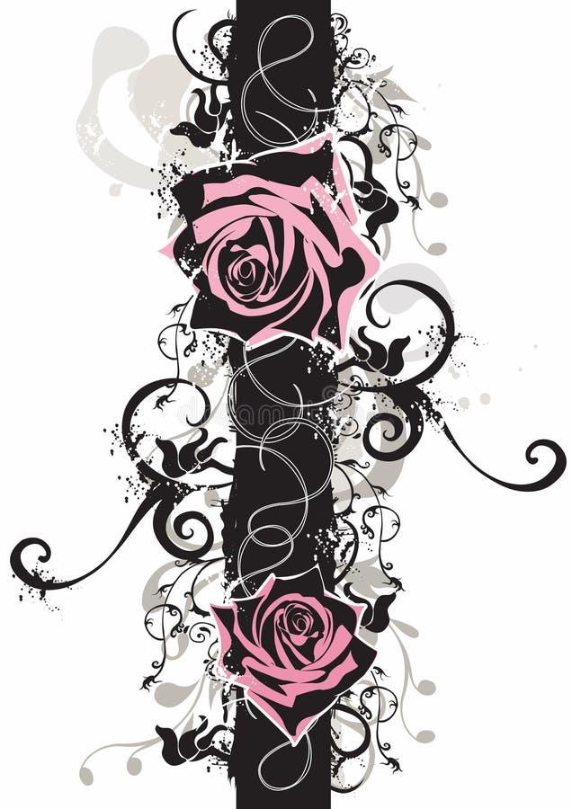 βρώμικα τριαντάφυλλα διανυσματική απεικόνιση