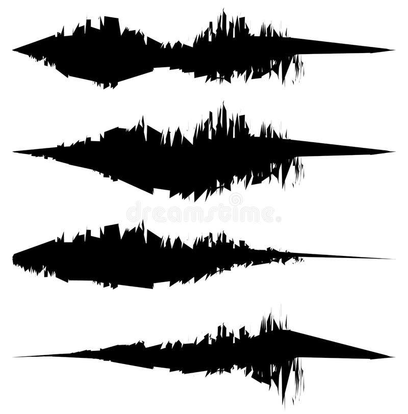 Βρώμικες, κατασκευασμένες γραμμές για τα αποτελέσματα ζημίας Σύνολο λεκιασμένος, κηλίδα απεικόνιση αποθεμάτων