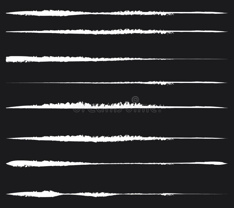 Βρώμικες, κατασκευασμένες γραμμές για τα αποτελέσματα ζημίας Σύνολο λεκιασμένος, κηλίδα ελεύθερη απεικόνιση δικαιώματος