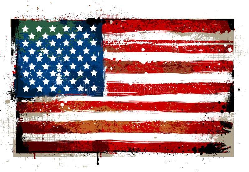 Βρώμικη ΑΜΕΡΙΚΑΝΙΚΗ σημαία διανυσματική απεικόνιση