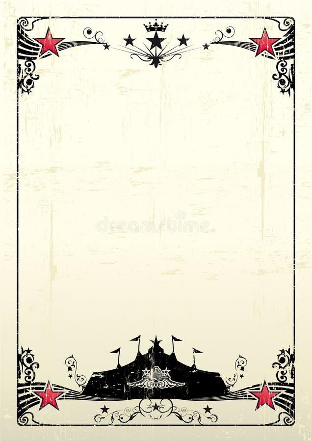 βρώμικη αφίσα τσίρκων ελεύθερη απεικόνιση δικαιώματος