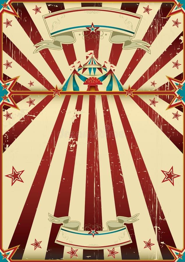 Βρώμικη αφίσα τσίρκων απεικόνιση αποθεμάτων