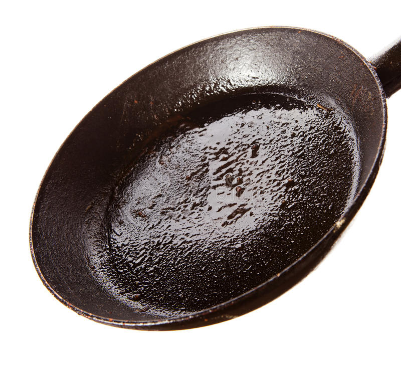 Βρώμικη ελαιούχος πανοραμική λήψη μετά από να τηγανίσει στοκ εικόνα με δικαίωμα ελεύθερης χρήσης