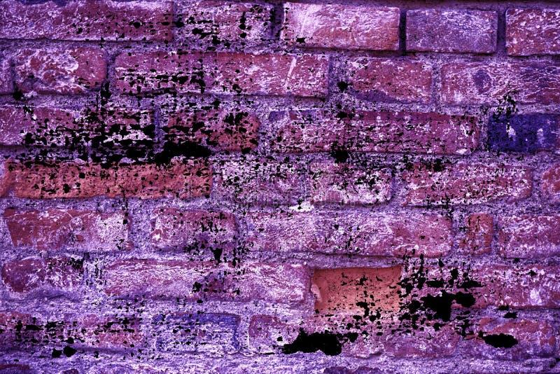 Βρώμικη εξαιρετικά πορφυρή σύσταση τουβλότοιχος Grunge, υπόβαθρο τσιμέντου για τον ιστοχώρο ή κινητές συσκευές στοκ φωτογραφία με δικαίωμα ελεύθερης χρήσης