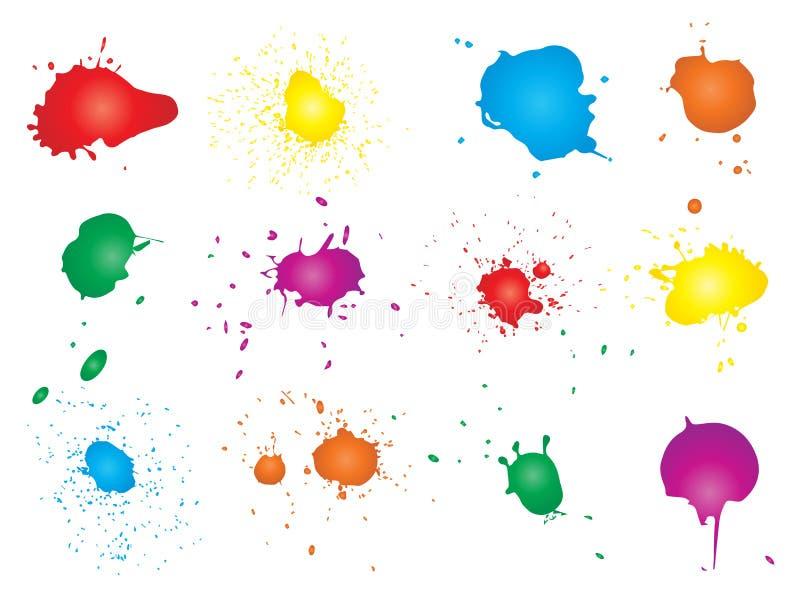 Βρώμικη πτώση χρωμάτων, χέρι - γίνοντας δημιουργικός παφλασμός ελεύθερη απεικόνιση δικαιώματος