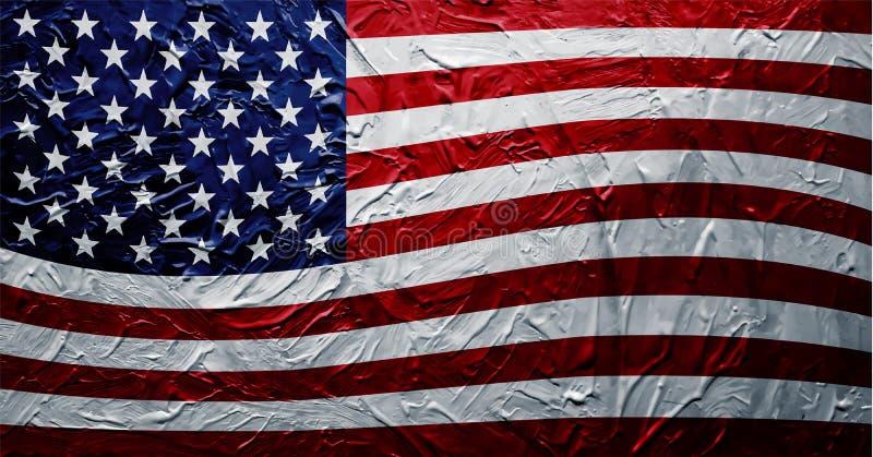 Βρώμικη σύσταση χρωμάτων ΑΜΕΡΙΚΑΝΙΚΩΝ σημαιών στοκ εικόνες
