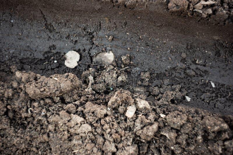 Βρώμικος δρόμος με τους σβόλους του χώματος στοκ φωτογραφία με δικαίωμα ελεύθερης χρήσης