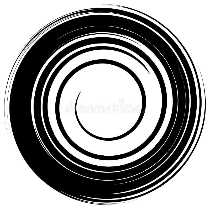 Βρώμικος λερωμένος κύκλος Αφηρημένη σκιαγραφία μορφής παφλασμών απεικόνιση αποθεμάτων