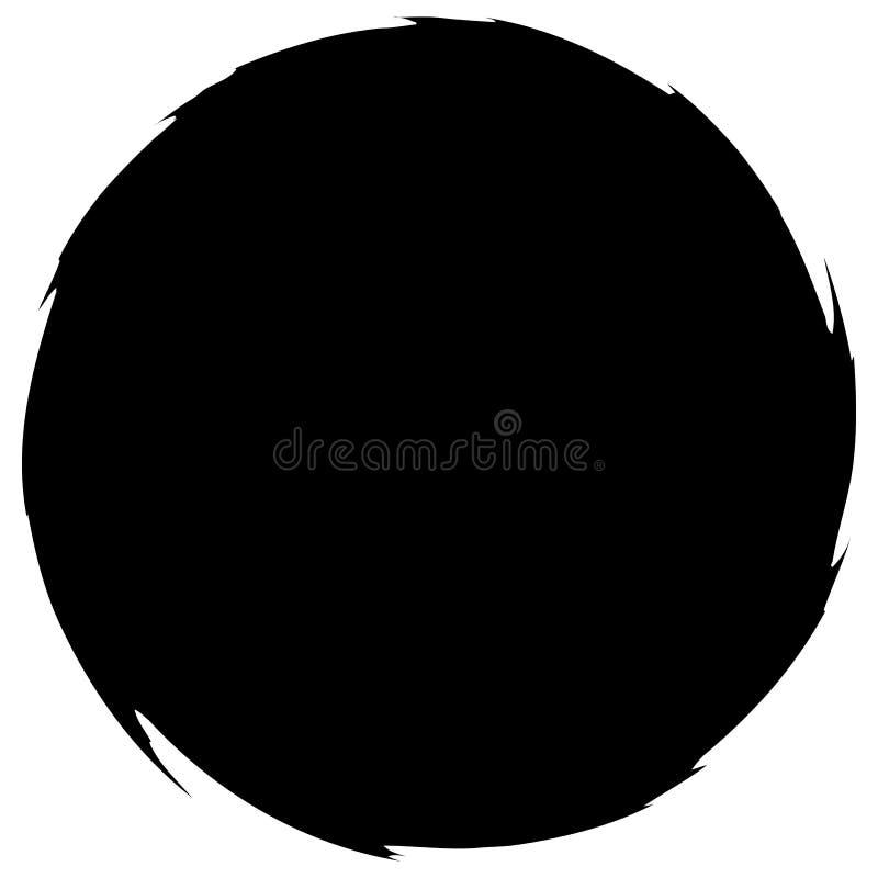 Βρώμικος λερωμένος κύκλος Αφηρημένη σκιαγραφία μορφής παφλασμών διανυσματική απεικόνιση