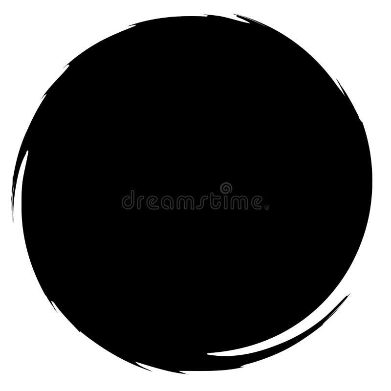 Βρώμικος λερωμένος κύκλος Αφηρημένη σκιαγραφία μορφής παφλασμών ελεύθερη απεικόνιση δικαιώματος