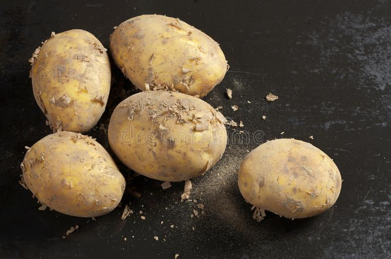 Βρώμικος στενός επάνω πατατών στοκ φωτογραφίες με δικαίωμα ελεύθερης χρήσης