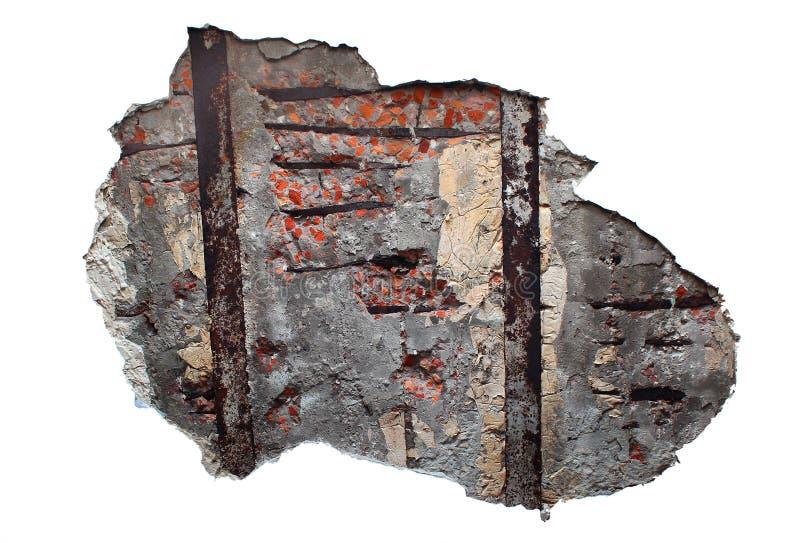 Βρώμικος τούβλινος τοίχος πίσω από το ασβεστοκονίαμα αποφλοίωσης και το ξεφλουδίζοντας χρώμα στοκ εικόνες