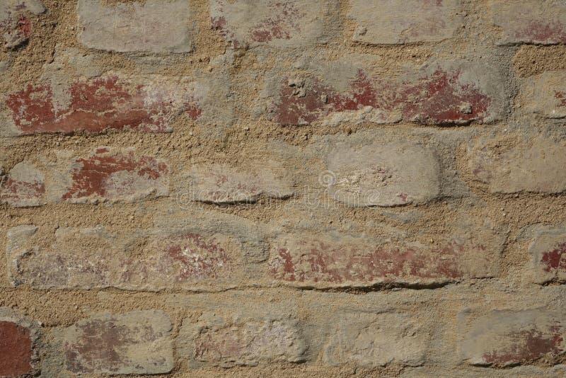 Βρώμικος τούβλινος τοίχος στοκ εικόνα
