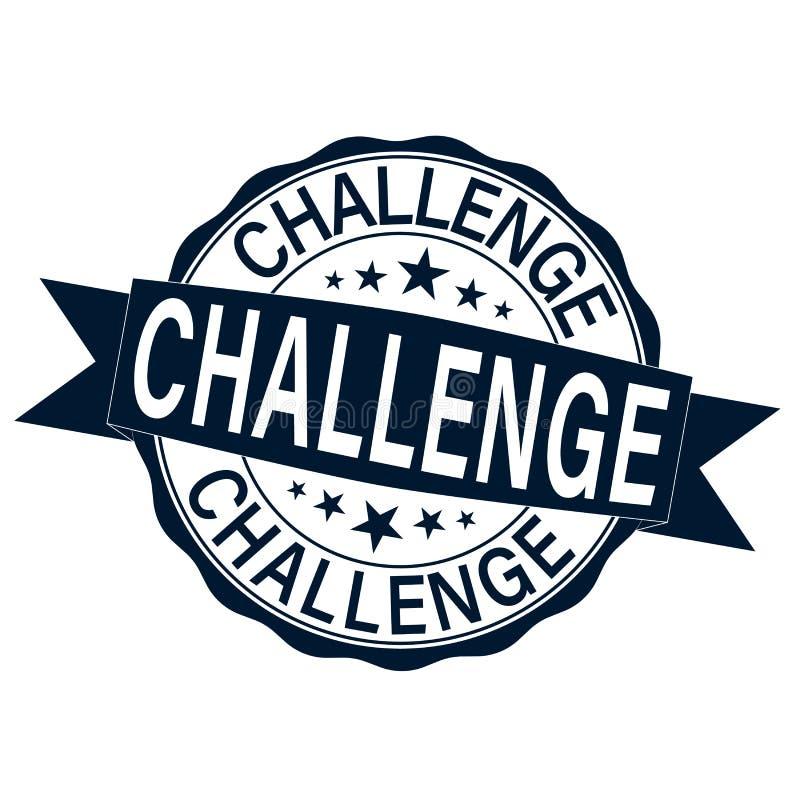 Βρώμικο γραμματόσημο Ιστού πρόκλησης που απομονώνεται στο άσπρο υπόβαθρο διανυσματική απεικόνιση