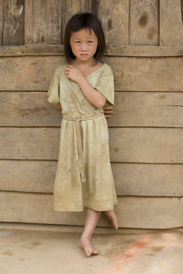 βρώμικο κορίτσι Λάος ενδυμάτων στοκ εικόνες