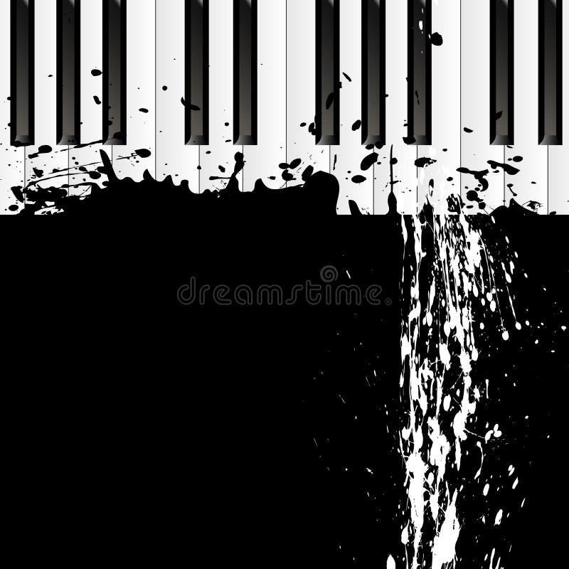 Βρώμικο σημείο στο πιάνο απεικόνιση αποθεμάτων