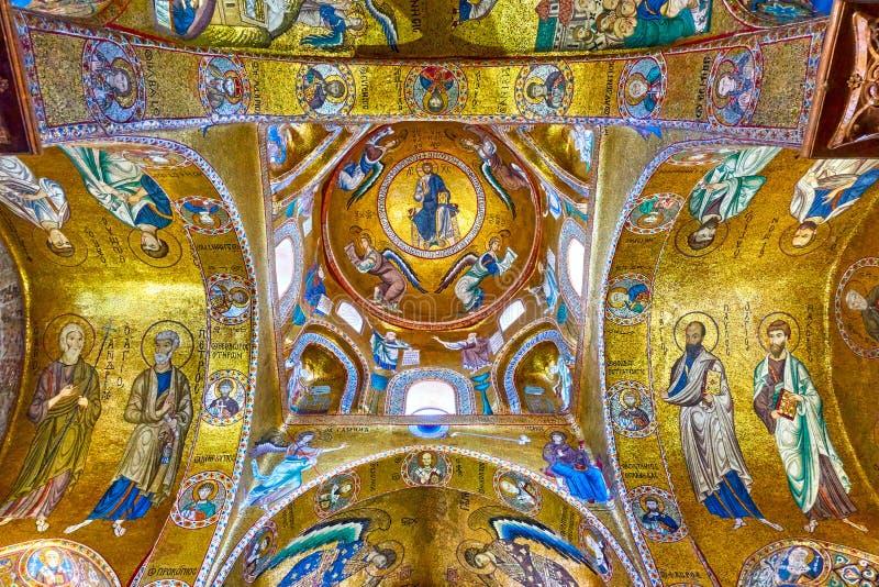 Βυζαντινά μωσαϊκά στο Martorana στοκ εικόνες με δικαίωμα ελεύθερης χρήσης