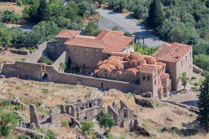 βυζαντινά peribletos mystras μοναστηριών στοκ εικόνα
