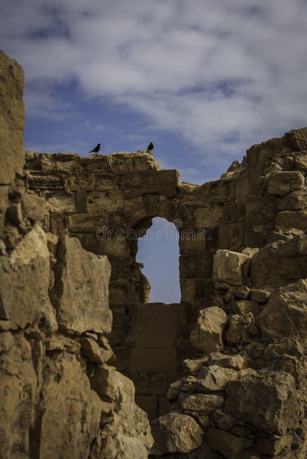 Βυζαντινή εκκλησία σε Masada στοκ φωτογραφία