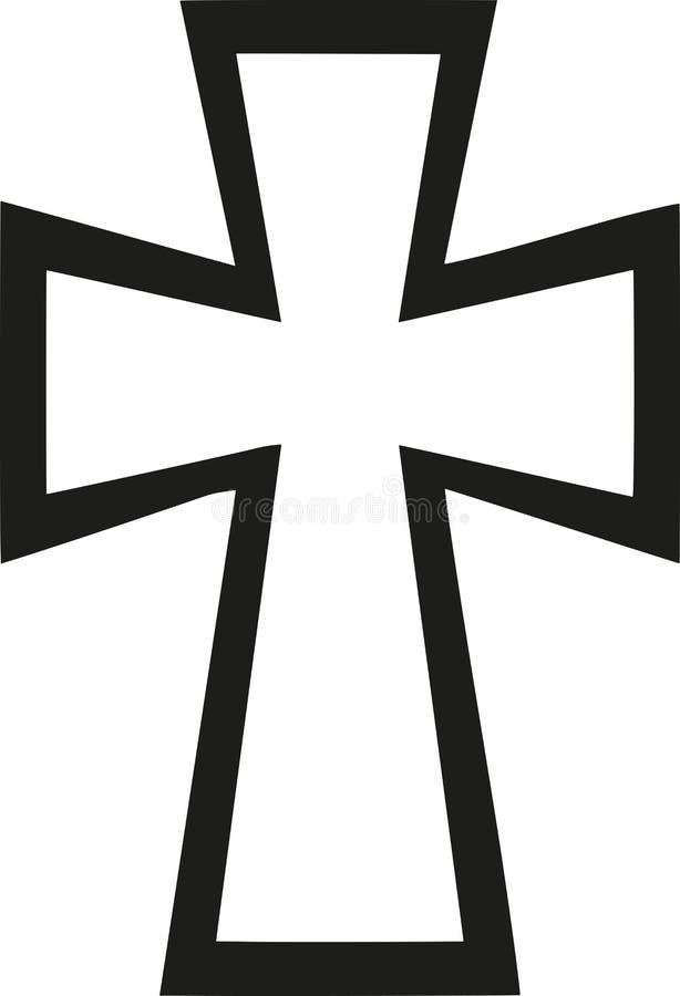Βυζαντινός σταυρός διανυσματική απεικόνιση