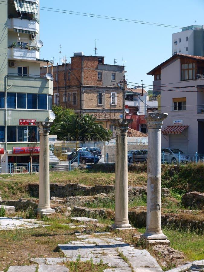 βυζαντινό φόρουμ durres της Αλβανίας στοκ εικόνες με δικαίωμα ελεύθερης χρήσης