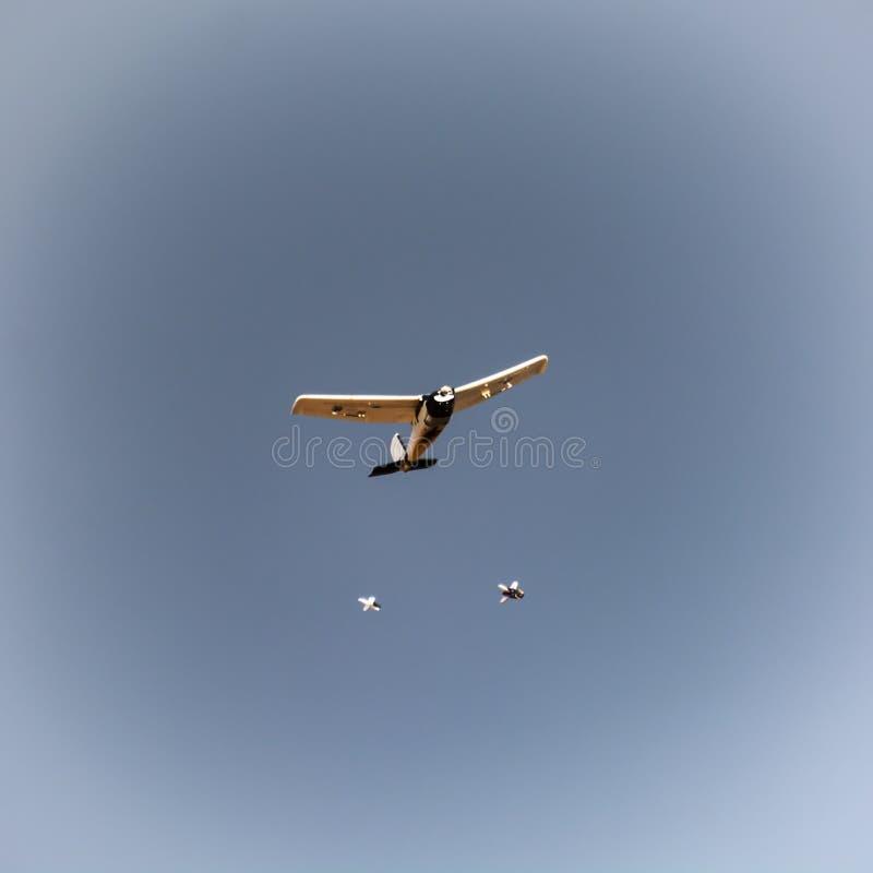 Βυθίζοντας βόμβες αεροπλάνων Rc στοκ εικόνες