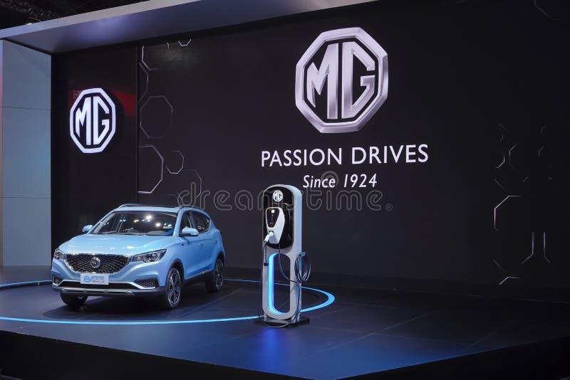 Βυσματωτή υβριδική ηλεκτρική τεχνολογία οχημάτων MG EV για το περιβάλλον στην επίδειξη στη διεθνή έκθεση αυτοκινήτου 2019 της 40η στοκ φωτογραφίες με δικαίωμα ελεύθερης χρήσης