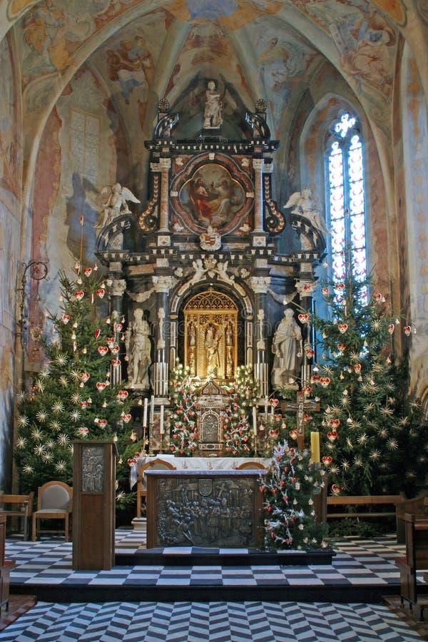 Βωμός στο πρωί Χριστουγέννων στοκ φωτογραφίες