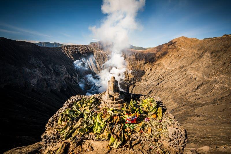 Βωμός Ganesh στην πλευρά του κρατήρα Bromo στοκ εικόνα με δικαίωμα ελεύθερης χρήσης