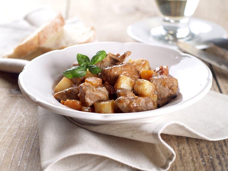 Βόειο κρέας και goulash λαχανικών στοκ φωτογραφία