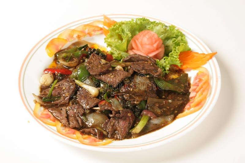 Βόειο κρέας με το μαύρο πιπέρι στοκ εικόνα με δικαίωμα ελεύθερης χρήσης