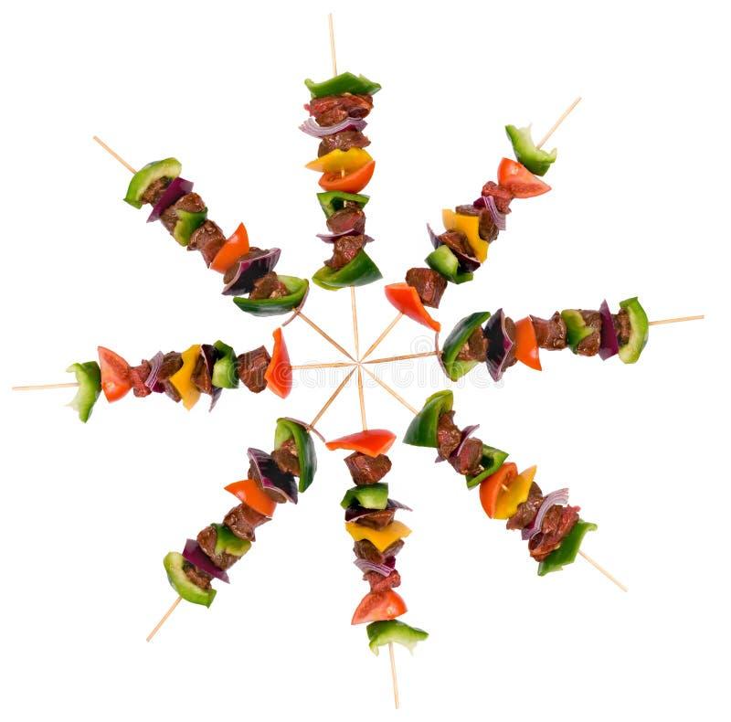 βόειο κρέας 9 shishkabobs στοκ εικόνες με δικαίωμα ελεύθερης χρήσης