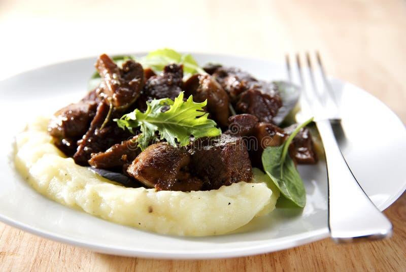 βόειο κρέας bourguignon στοκ εικόνες