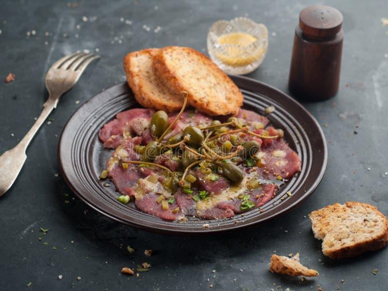 Βόειο κρέας Carpaccio στοκ εικόνες