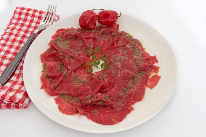 Βόειο κρέας Carpaccio στοκ εικόνα