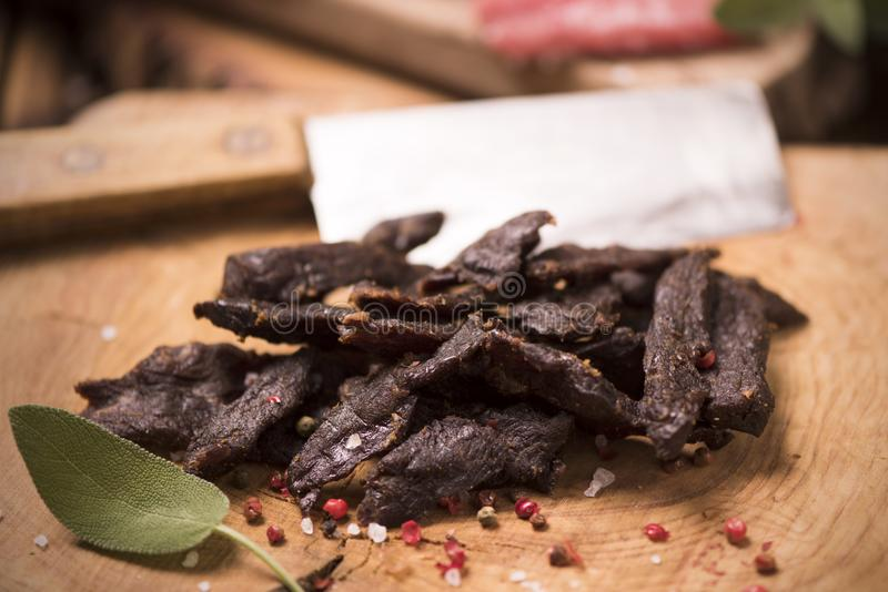βόειο κρέας jerky στοκ φωτογραφία με δικαίωμα ελεύθερης χρήσης