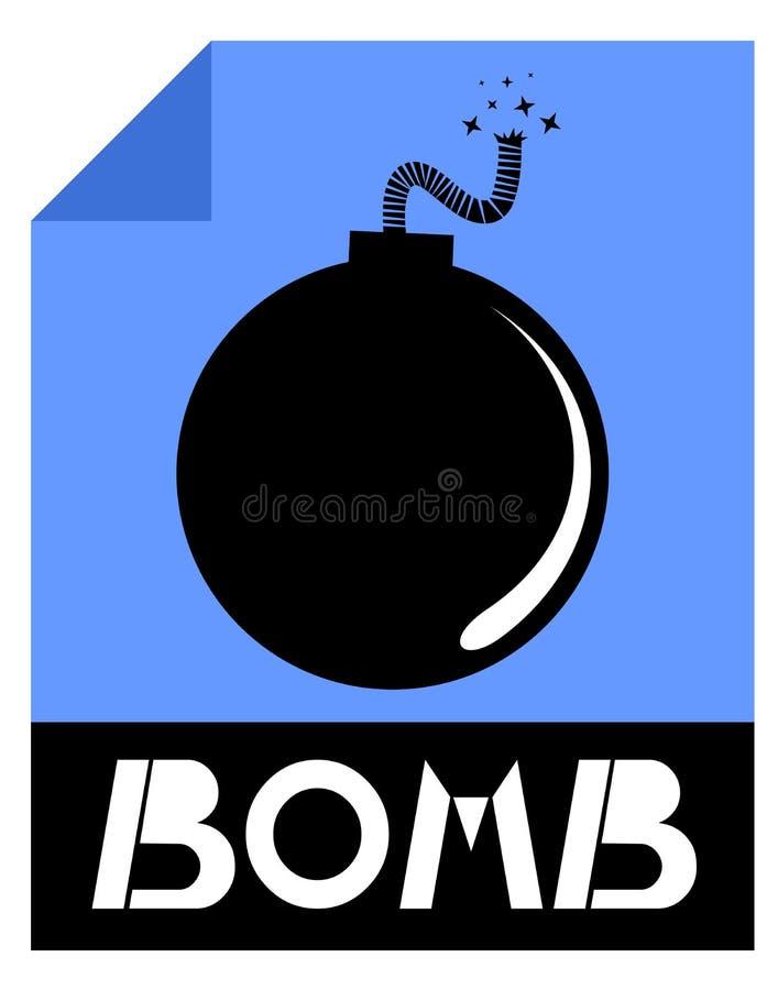 Βόμβα εικονιδίων διανυσματική απεικόνιση