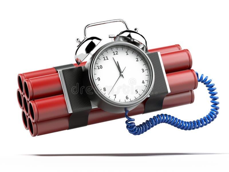 Βόμβα με το χρονόμετρο ρολογιών ελεύθερη απεικόνιση δικαιώματος
