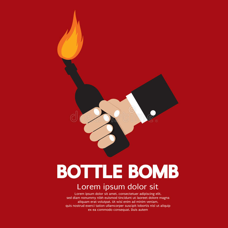 Βόμβα μπουκαλιών απεικόνιση αποθεμάτων