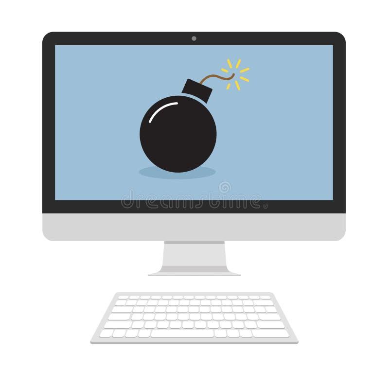 Βόμβα στην οθόνη απεικόνιση αποθεμάτων